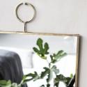 house doctor loop miroir rectangulaire vintage metal laiton Pm0153