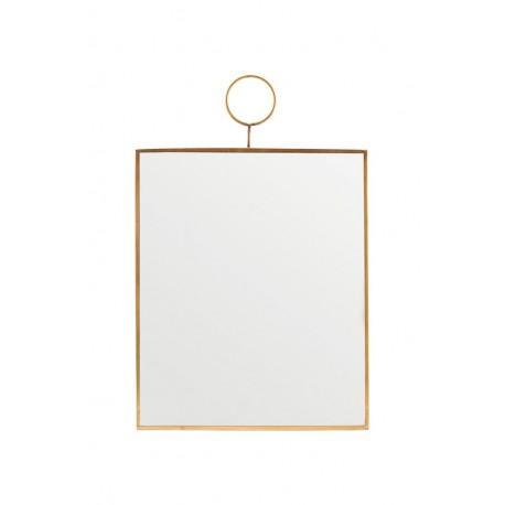 Miroir rectangulaire vintage métal laiton House Doctor Loop