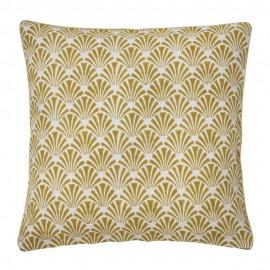 Housse de coussin carrée coton motif jaune Bungalow Denmark Deca