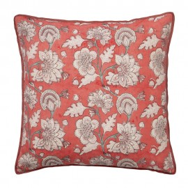 bungalow denmark coussin soie imprime block print carree Ankita Calypso