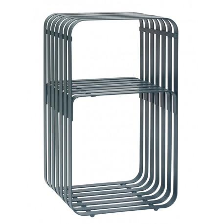 Table d'appoint design métal vert Hübsch