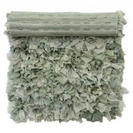 Tapis descente de lit chiffon tissu recyclé Bungalow Denmark vert