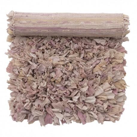 petit tapis chiffon tissu recycle bungalow denmark rose pastel