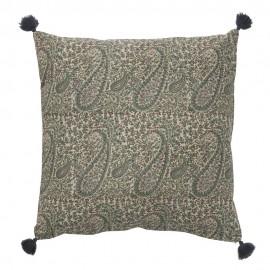 bungalow housse de coussin vintage chic motif cachemire paisley vert
