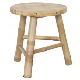 ib laursen tabouret rond rustique bois bambou 2287-00