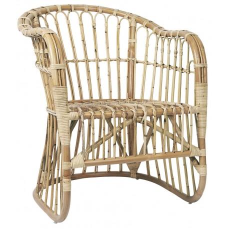 ib laursen fauteuil lounge rotin naturel 3786-00