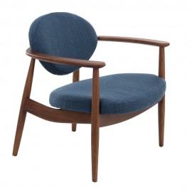 pols potten roundy fauteuil bois vintage retro bleu 555-020-006