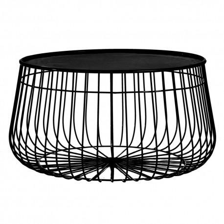 pas mal 3a4fd f8fd9 Table basse ronde métal plateau amovible Pols Potten Wire
