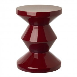 pols potten zig zag tabouret design rouge bordeaux 510-070-076