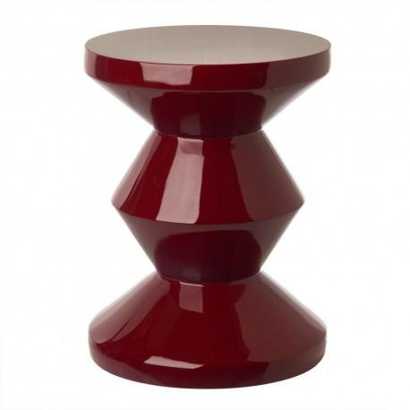 pols potten zig zag tabouret design rouge bordeaux 510-070-076
