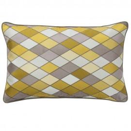 bungalow denmark housse de coussin rectangulaire arlequin sun yell jaune
