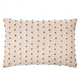 bungalow denmark housse de coussin rectangulaire coton rose pastel broderie