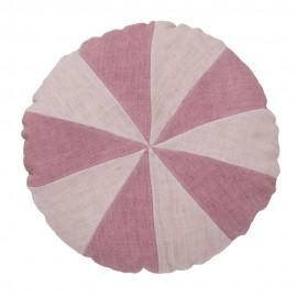 bungalow denmark housse de coussin ronde lin rose degrade