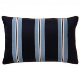 bungalow denmark coussin chic raye broderie bleu marine