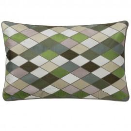 bungalow denmark housse de coussin motif arlequin vert