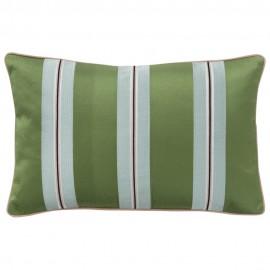 bungalow denmark housse de coussin chic raye vert bleu ciel