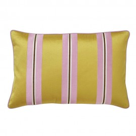 bungalow denmark coussin chic rayures jaune moutarde manuel