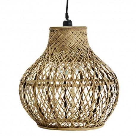 madam stoltz suspension en bois bambou tresse