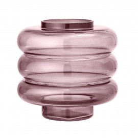 Vase design verre Bloomingville rose