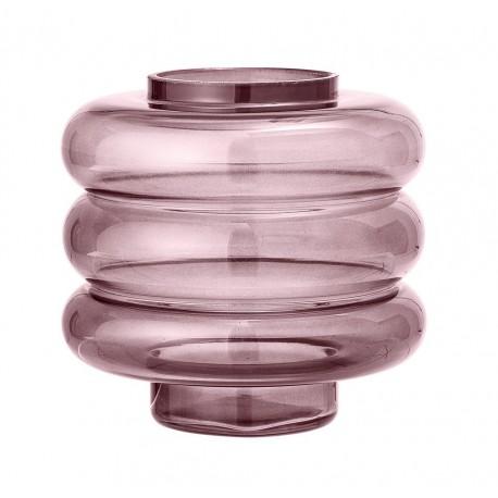 Vase design verre Bloomingville rose
