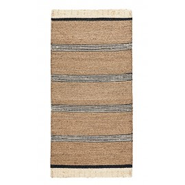 house doctor beach tapis jonc de mer naturel raye noir
