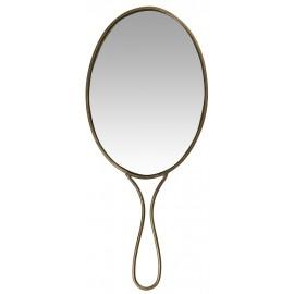 Miroir à main ovale rétro vintage métal laiton IB Laursen