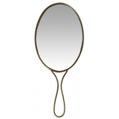 ib laursen miroir a main ovale retro vintage metal laiton 3172-17