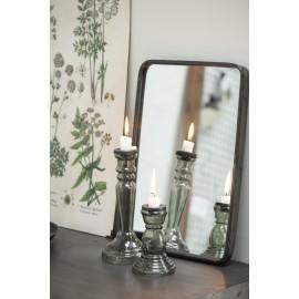 ib laursen petit miroir mural rectangulaire metal noir vintage brooklyn