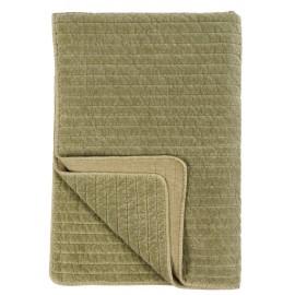 ib laursen couvre lit boutis pique velours vert olive 130 x 180 cm