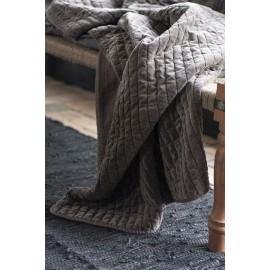 ib laursen boutis pique texture velours gris taupe 130 x 180 cm