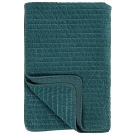 ib laursen couverture velours pique bleu canard 130 x 180 cm
