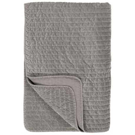 ib laursen boutis couvre lit velours pique gris clair 130 x 180 cm