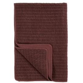ib laursen couvre lit plaid velours pique marron chocolat 130 x 180 cm