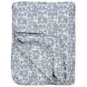 ib laursen couverture matelasses fleurie bleu 130 x 180 cm