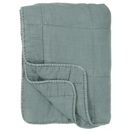 ib laursen couverture matelassee coton bleu poudre 130 x 180 cm