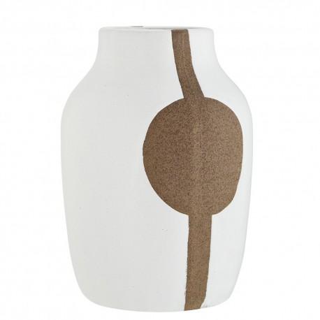 madam stoltz vase gres blanc style japonais