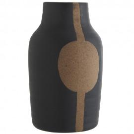 madam stoltz vase style japonais gres noir