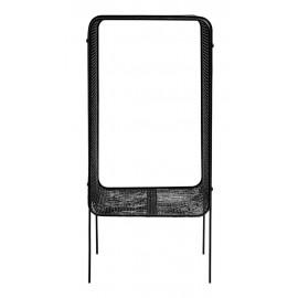 Table d'appoint métal noir grillagé maille serrée Nordal