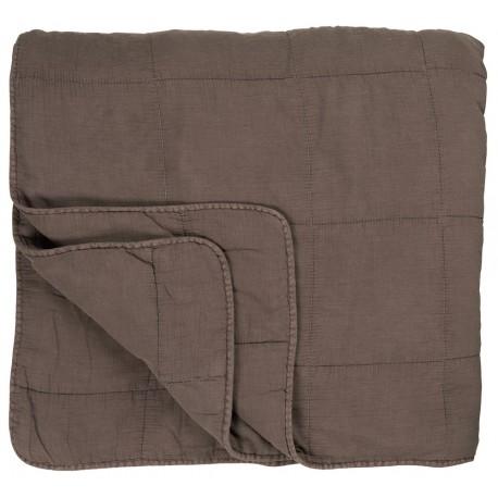 Boutis jetée de lit matelassé gris IB Laursen