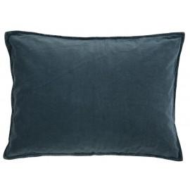 ib laursen housse de coussin rectangulaire velours bleu marine 70 x 50 cm