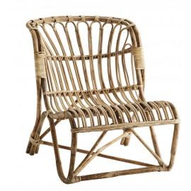 madam stoltz fauteuil bas lounge bois bambou