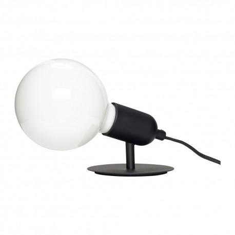 hubsch lampe de table simple ampoule metal noir 990806