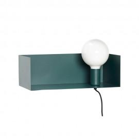 Applique murale avec étagère intégrée métal Hübsch vert