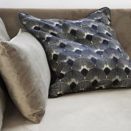 house doctor ananda housse de coussin style art deco bleu ab1046