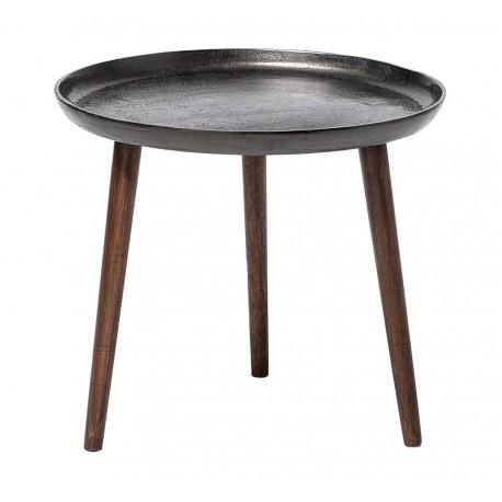 bloomingville cone table basse d appoint ronde plateau auminium noir -  Kdesign