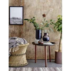 bloomingville cone table basse d appoint ronde plateau auminium noir