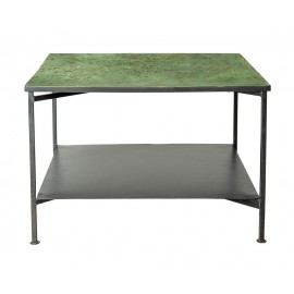 bloomingville bene table basse carree metal plateau vert 82042949