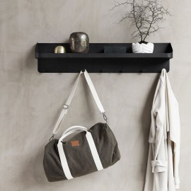 house doctor pocket portemanteau mural etagere metal noir pj0205