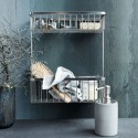 house doctor etagere de salle de bains metal argent wg0301 double