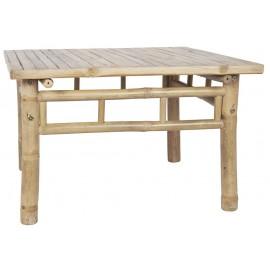 Table basse carrée rustique bois bambou IB Laursen